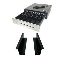 """16""""Heavy Duty Black POS Cash Drawer with 5Bill/5Coin with Un"""