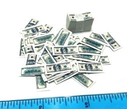 "AX-BL: 1/12 miniature toy US Money Cash Bills  for 6"" action"