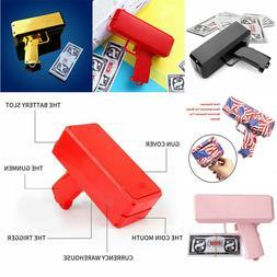 Cash Cannon Money Gun Launcher Party Game Toys Gift w/100pcs