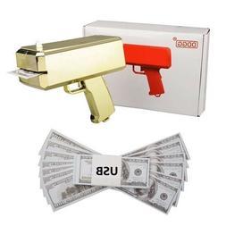 Cash Cannon Money Gun Launcher w/Fake Bills Party Toys