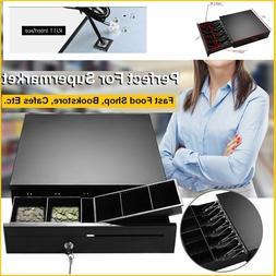 Cash Drawer Box Works Compatible Epson POS Printers w/5Bill