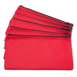 DALIX Zipper Bank Deposit Money Bags Cash Coin Pouch 6 Pack