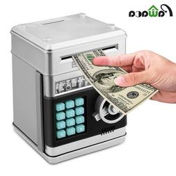Electronic Piggy Bank ATM Password Money Box Cash Coins Savi