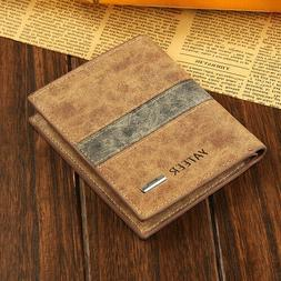 Fashion Men's Bifold Leather Slim Wallet ID Credit Card Hold