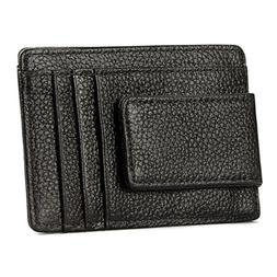 Fashion RFID Blocking Money Clip Leather Wallet Photo Cash C