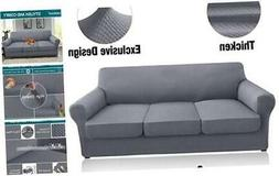 Granbest 4 Piece High Stretch Couch Covers for 3 Cushion Cou