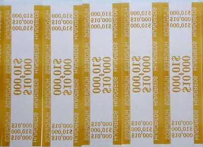 100 mustard 100 self sealing currency bands