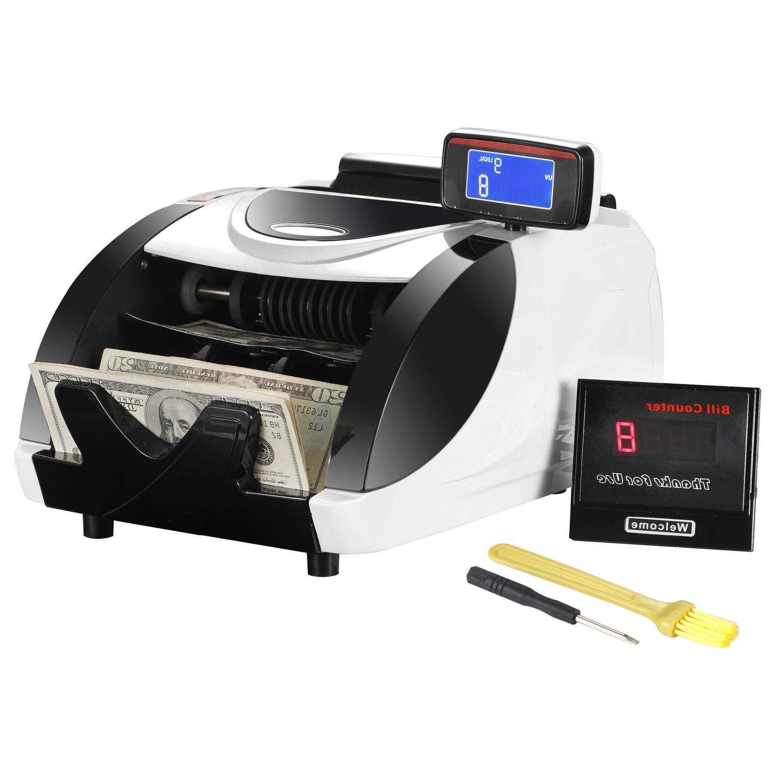 Money Bill Counter Machine Cash Counting Bank  Detector Chec