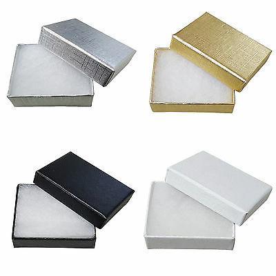 cardboard jewellery gift box wedding favour cotton