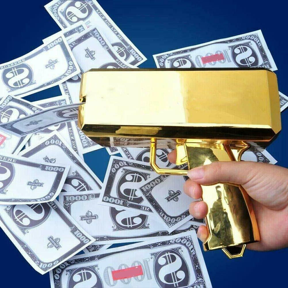 cash cannon money gold gun launcher w
