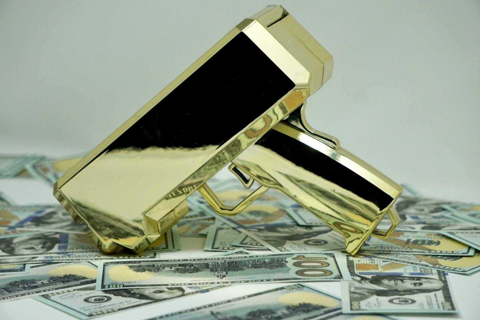 cash gun bill shooter money gun metallic