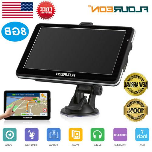 7 Portable Car GPS Navigation Auto Navigator SAT NAV 8GB FM