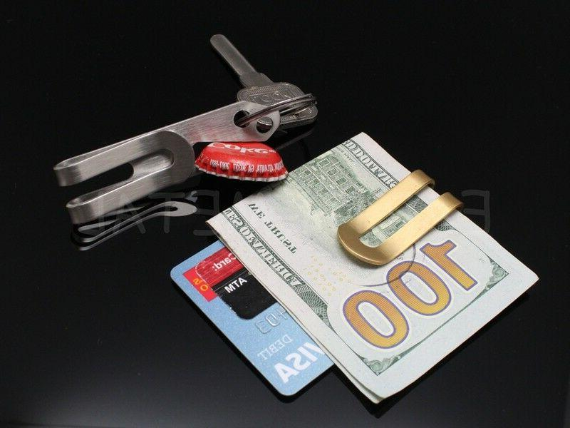 Gift Stainless Money Cash Note Credit Card Holder Wallet Opener