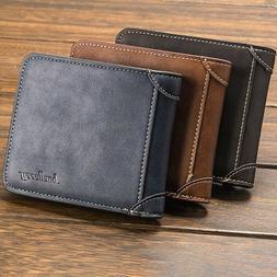 Mens Boys  Cash Credit Card Photo ID PU Leather Multi Colour