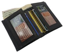 AG Wallets Mens Leather Bifold Slim Wallet Card Cash And ID