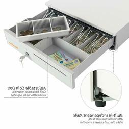 """Money Box 16"""" 5 Bill 5 Coin Cash Drawer Lock Storage with Re"""