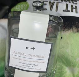 NEW 8.2oz Cloche Glass Jar Candle CASHMERE VANILLA HARRY STY