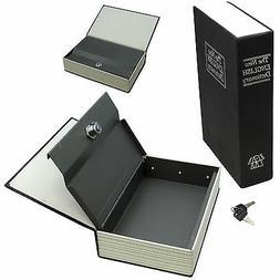 New BLACK Creative Key Lock Dictionary Book Hidden Safe Hide
