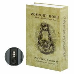 Secret Hidden Book Safe Combination Lock Money Cash Jewelry