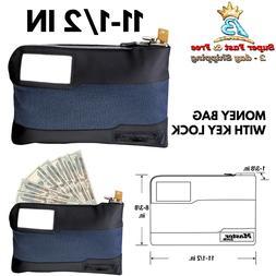 Security Locking Money Cash Bank Bag Anti Theft Lockable Pur