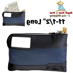 security locking money cash bank bag anti