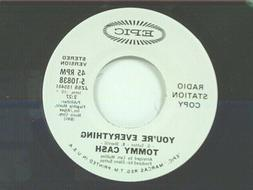 """TOMMY CASH """"YOU'RE EVERYTHING / MONO"""" 45 MINT PROMO"""